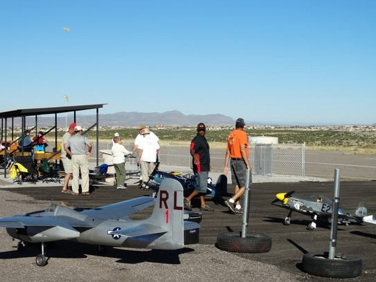 Forty pilots and approximately 150 model airplane enthusiasts