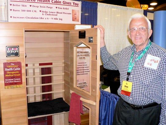 Don Tralmer had an exhibit at the Pork/Corn/Soy Expo.
