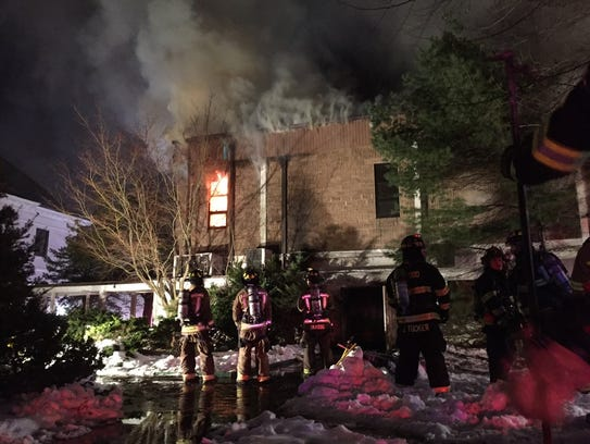 Several fire departments are battling a blaze in the
