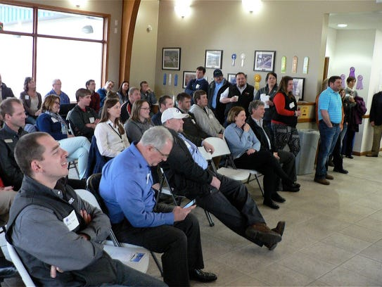 """Some 60 people attended the """"Dairy Science Kickoff"""""""