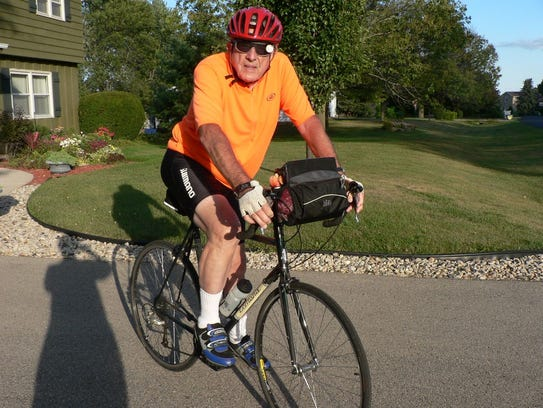 John Oncken biked over 400 miles on the 2005 annual