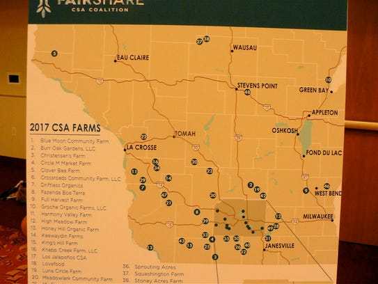 The 54 CSA farmer members are located across the state.