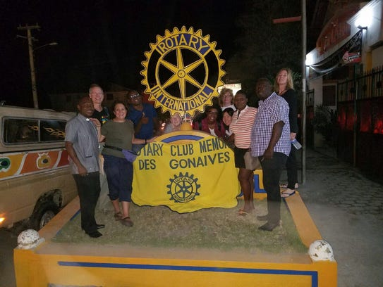 Vassar Haiti Project members are shown at Rotary in