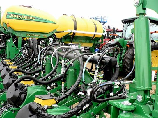 "A ""state of the art"" John Deere corn planter."