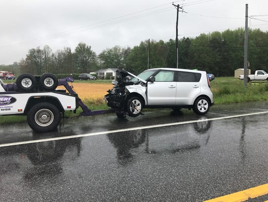 A two vehicle accident in Worcester County sent two