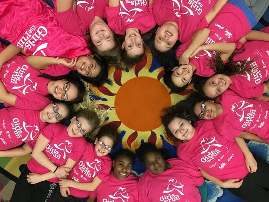 A Girls on the Run team from the Boys and Girls Club/