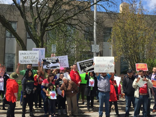 Protesters in Pontiac rallied to support the rights