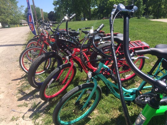 Bare Bones Brewery carries a fleet of electric bikes