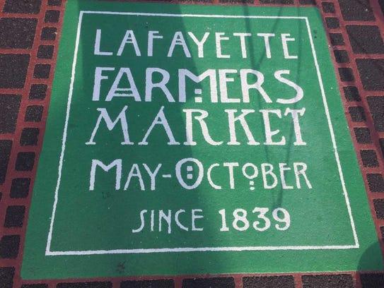 Lafayette Farmer's Market is open Saturdays from May