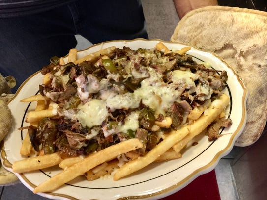 And order of tri-tip Philly fries fresh from the oven.