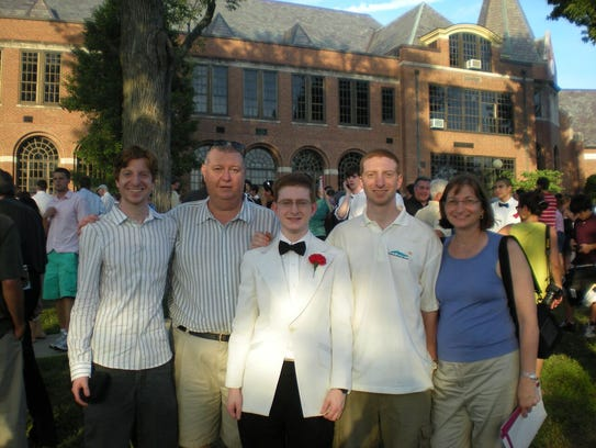The Clementi family: James, Joe, Tyler, Brian and Jane
