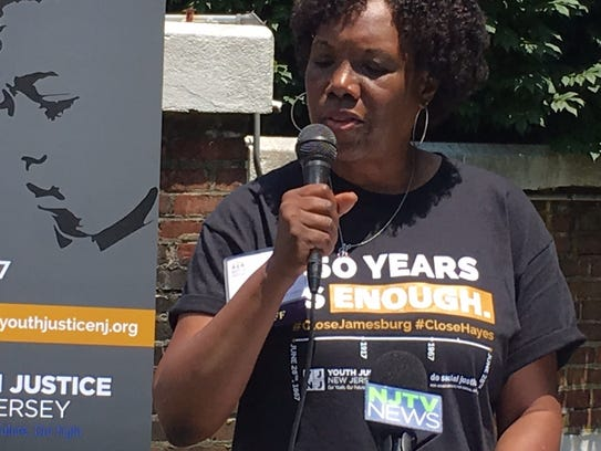 Retha Onitiri, Juvenile Justice campaign manager, speaks