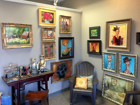 Vickie Milam opened The Lilly Pad in 2015 to paint