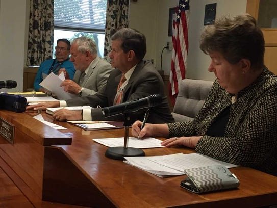 Lebanon County commissioners (from right) Jo Ellen Litz, Bob Phillips and Bill Ames are seen in this file photo.