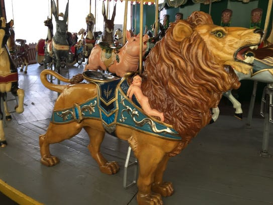 The carousel includes more menagerie animals than most