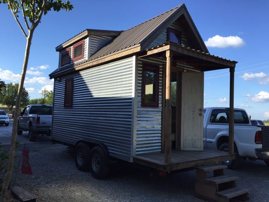 This tiny house was built in 2015 during a workshop