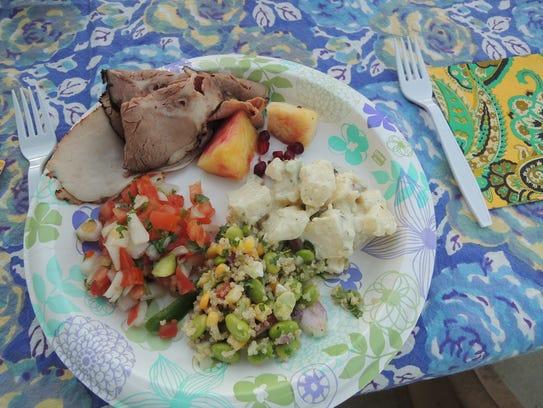 Picnic lunch at Shasta Dam.