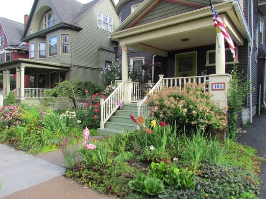 In Buffalo, N.Y., quaint homes and eclectic gardens