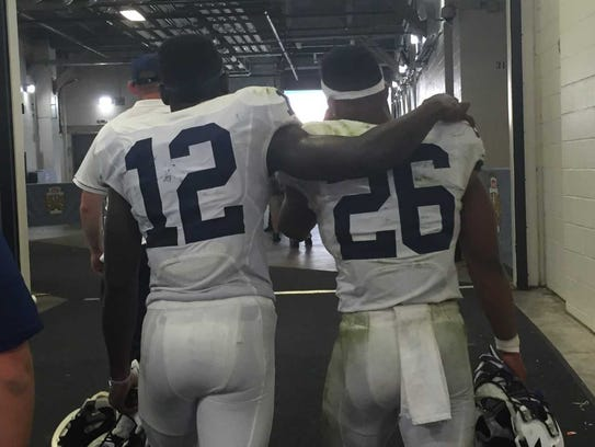 Saquon Barkley (26) learned to be a leader through