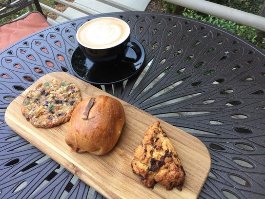 Pastries and craft coffee at Caffe Pagato in Redding.