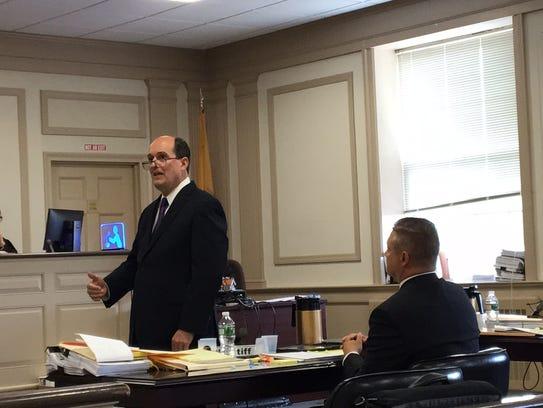 Attorney Christopher Deininger, who represents retired