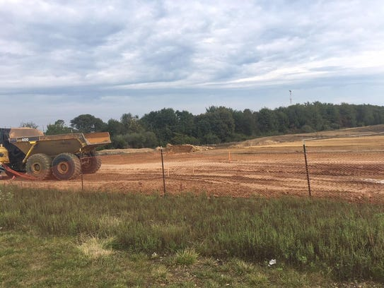 Early construction has begun with land being cleared