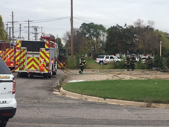St. Cloud firefighters handled a call near Division