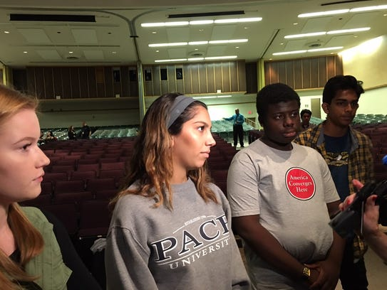 South Plainfield High School students during the program