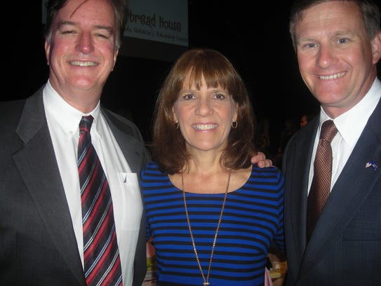 Pete and Stephanie Tucker and state Sen. Barrow Peacock
