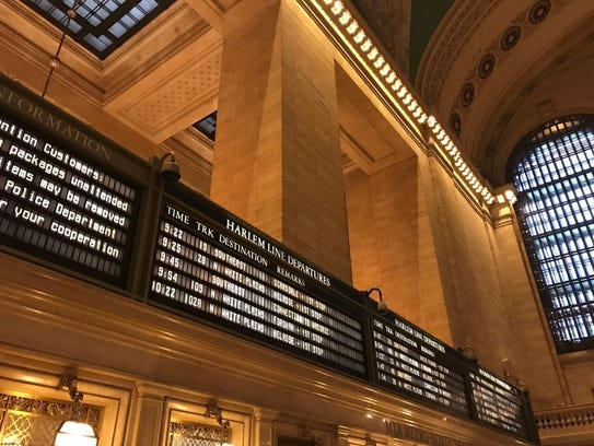 The big board at Grand Central Terminal in Manhattan.