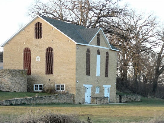 The 1861 built, 44 cow stone barn stands strong yet