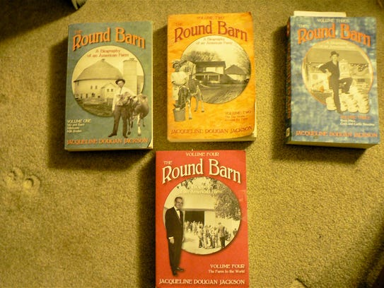 """Four books make up the """"Round Barn, biography of an"""
