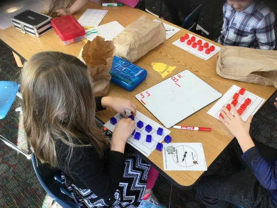 In third grade, Greenland students are adding within