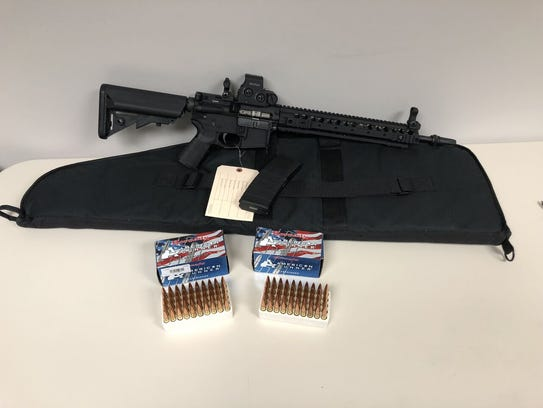 A LWRC 300 Blackout rifle that authorities say a UCF student bought before his removal from the country.