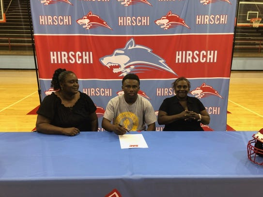 Hirschi senior Andrew Calvin signed a national letter