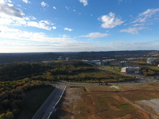 A view of the 22-acre site purchased by Franklin developers