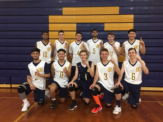 The Colonia boys volleyball team.
