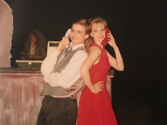 Brian and Julie Calley in the Ionia High School production
