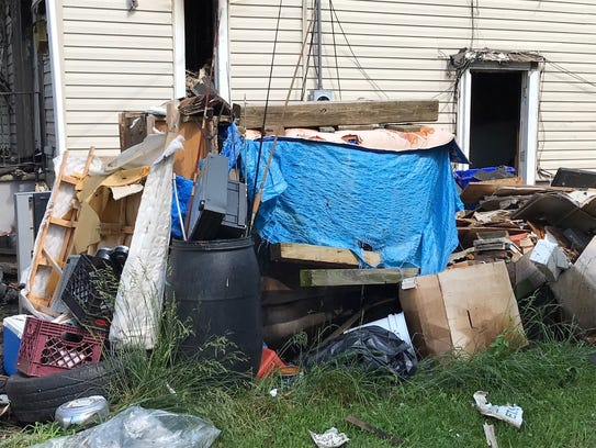 A neighbor said this pile of debris was on the side