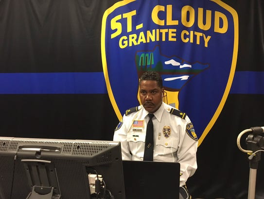 St. Cloud Police Chief Blair Anderson takes part in