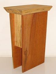Artist Alice Porembski exhibits her wood pieces at