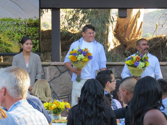 The From Field to Fork dinner included the presentation