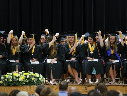 Paint Valley High School held their graduation Sunday