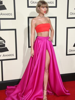 Taylor Swift arrives on the red carpet during the 58th