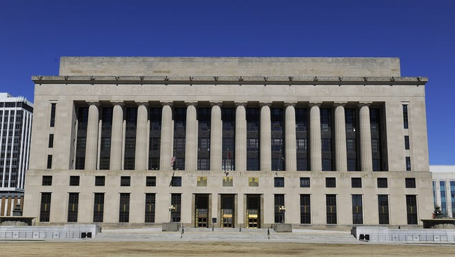 The Davidson County Public Building and Courthouse Monday March 30, 2015, in Nashville, Tenn.
