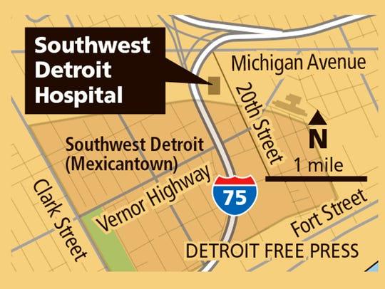 Detroit Southwest Hospital map