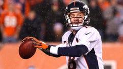 Dec 22, 2014; Cincinnati, OH, USA; Denver Broncos quarterback