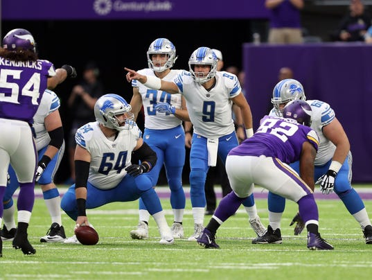 Detroit Lions at Minnesota Vikings