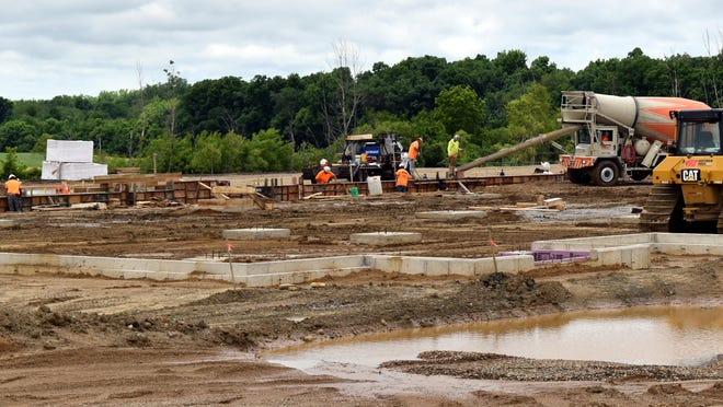 Foundations and footing are being poured for the new Branch County Jail.