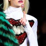 A model walks the runway at CND For The Blonds on  Feb. 12 at Milk Studios in New York City.
